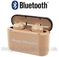 Вакуумные наушники и гарнитура беспроводные Bluetooth блютуз X8-D для телефона смартфона. Бездротові навушники