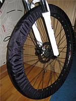 Чехлы для колес велосипеда, бахилы многоразовые, велочехлы, чехлы от грязи, 24 дюймов, черный, фото 1