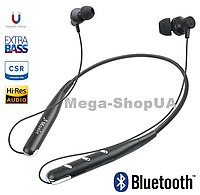Беспроводные Bluetooth наушники Sport Headset Wireless Silver. Поддерживает TF-карты. Вакуумные наушники