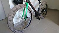 Чехлы для колес велосипеда, бахилы многоразовые, велочехлы, чехлы от грязи, 24 дюймов, капучино, кофе с молоко