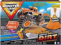 Набір Monster Jam Божевільний бик з кінетичним піском