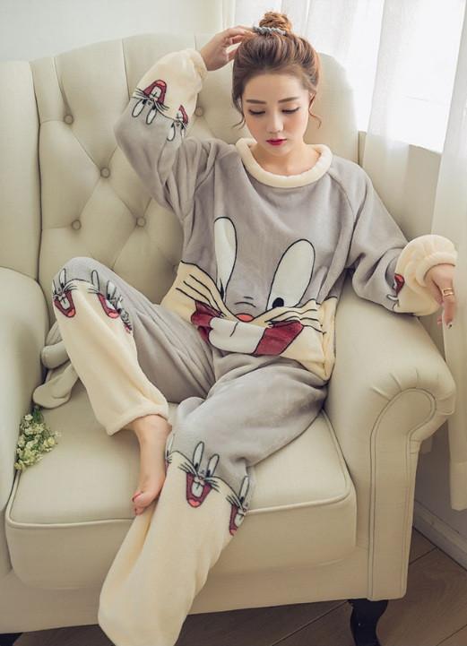 """Пижама для девушек """"Gray Rabbit"""" с длинными рукавами Купить НЕДОРОГО Доставка по всей Украине!"""