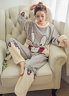 """Пижама для девушек """"Gray Rabbit"""" с длинными рукавами Купить НЕДОРОГО Доставка по всей Украине!, фото 1"""