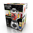 Блендер стационарный Adler AD 4070 мощность 600W, обьем чаши 1,5 литра, 5 скоростей, фото 6
