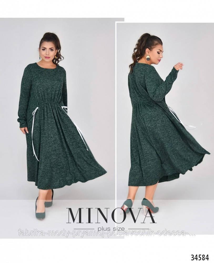 Платье №4100-1-зеленый