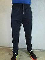 Мужские спортивные брюки Adidas темно-синий с белым  04Б