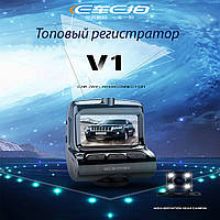 Премиальный Видеорегистратор в автомобиль DVR 7312-V1 WIFI с двумя камерами регистратор авторегистратор парктр