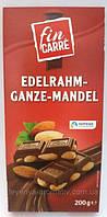 Шоколад молочный  Fin Carre с цельным миндалем Германия 200г