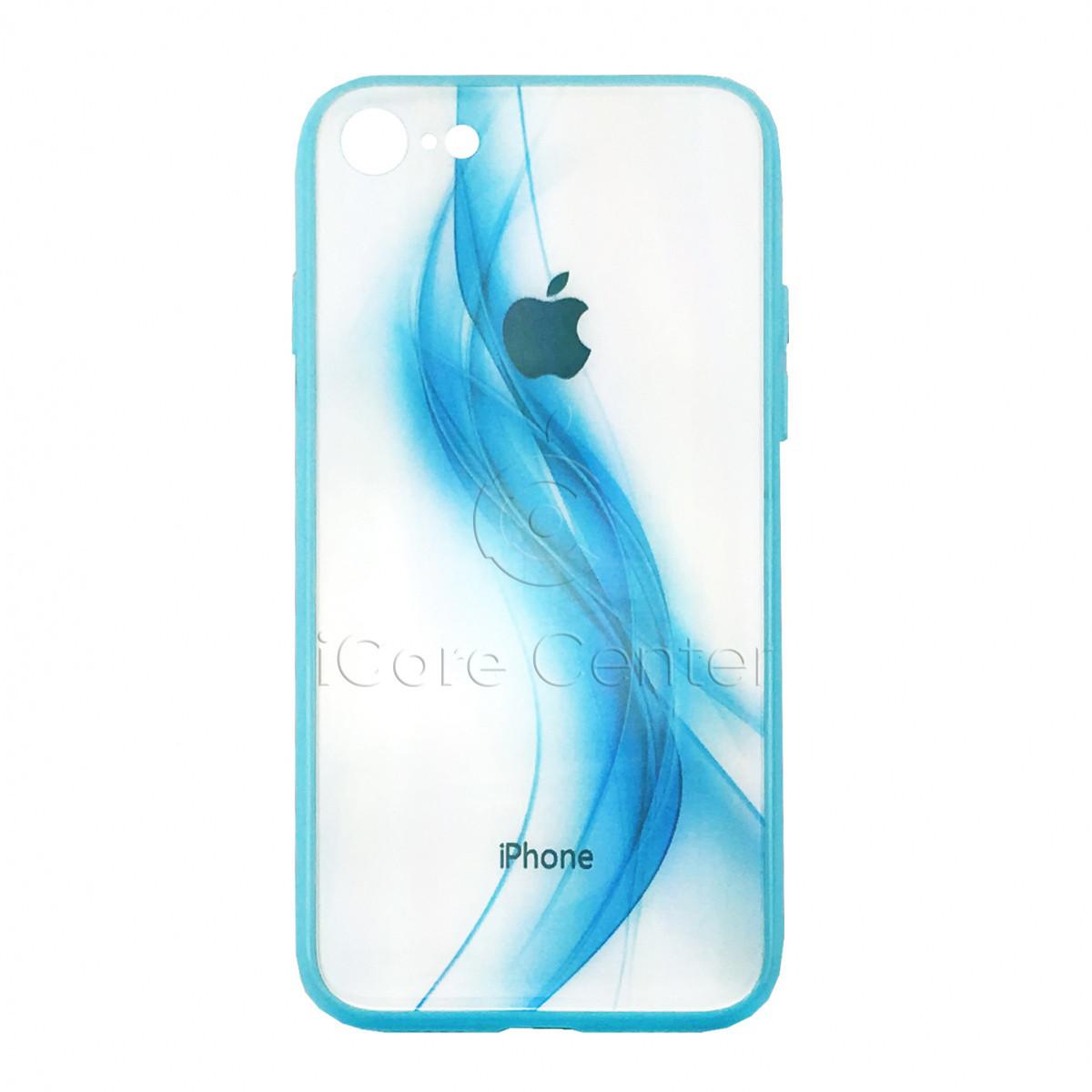 Чохол накладка на iPhone 7 / 8 Glass Polaris Smoke color Синій (Blue)
