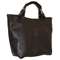 Женская сумка из кожзама, коричневая, фото 1