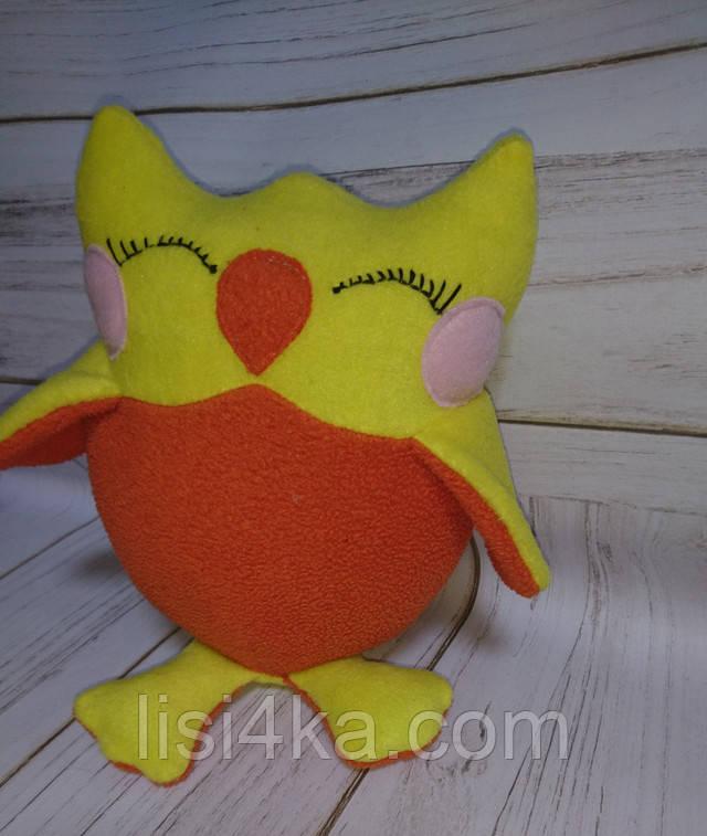 Интерьерная текстильная игрушка ручной работы сова