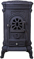 Печь буржуйка чугунная Bonro Black двойная стенка 9 кВт (30000001)