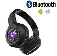 Беспроводные Bluetooth наушники B570 Black - ЖК-экраном, microSD, FM, MP3