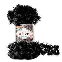 Пряжа с петлями для вязания руками Alize Puffy Fur 6101 (нитки с петельками Ализе Пуффи Фер Фур)