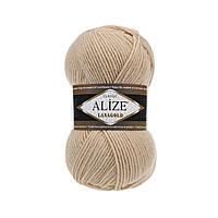 Пряжа для вязания Alize Lanagold 680 медовый (Ализе Лана голд)