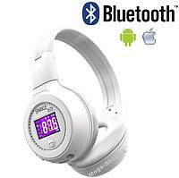 Беспроводные Bluetooth наушники B570 White - ЖК-экраном, microSD, FM, MP3