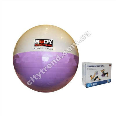 Фитбол (мяч для фитнеса) Solex гладкий 65 см двухцветный