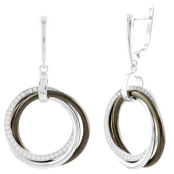 Серебряные серьги SilverAlex с керамикой (1524169)
