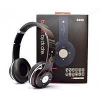 Наушники беспроводные bluetooth microSD Mp3 Beats S460 MP3 FM радио Чёрные