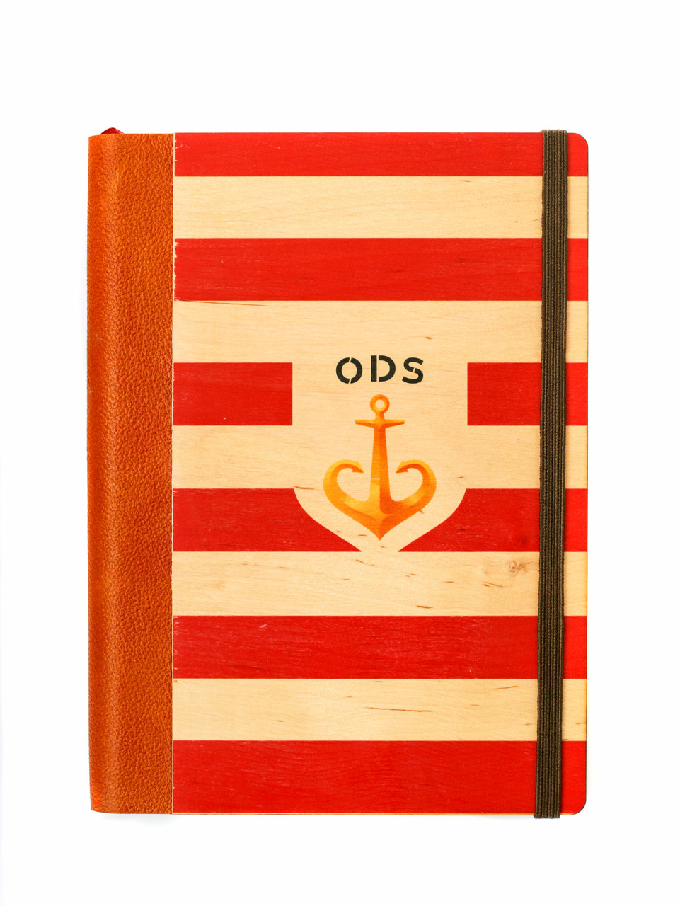 """Эко Ежедневник-мотиватор недатированный А5 """"Одесса. Красный"""", деревянный в книжном переплете, 368 стр."""