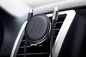 Автодержатель Baseus Magnetic Air Vent Car Mount Holder Black (SUGX-A01), фото 2