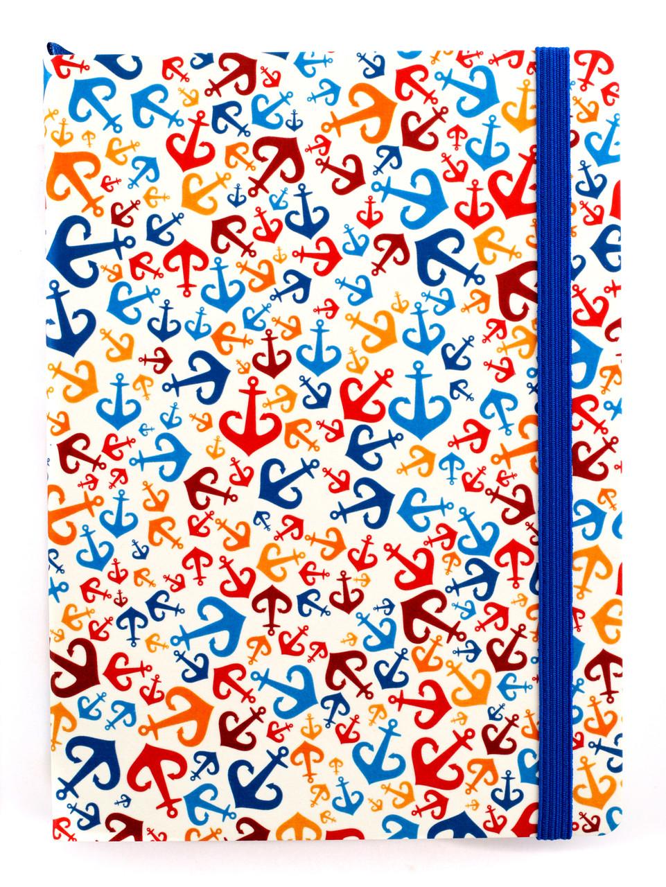 """Эко Ежедневник-мотиватор недатированный А5 """"Одесса. Якоря"""", НаноКрафт в книжном переплете, 368 стр."""
