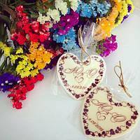 Роскошные бонбоньерки со свадебными инициалами