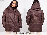 Теплая женская куртка с капюшоном раз. S.M, фото 4