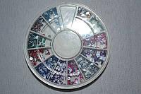 Камни для ногтей разноцветные