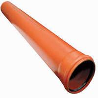 Труба ПВХ канализационная наружная 110 мм длина 1м, фото 1