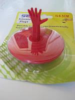 Пробка в ванную с игрушкой Красный