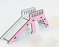 Игрушечная горка NestWood для кукол и пупсов Белый с розовым kml005, КОД: 1198225