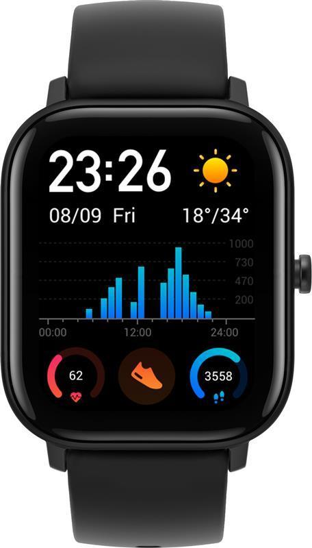 Умные часы Xiaomi Amazfit GTS Black Global EU, 1.65 (442 х 348) AMOLED сенсорный / Bluetooth 5.0 / Wi-Fi, GPS,