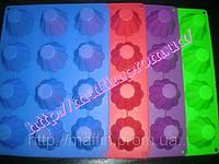 Форма силиконовая Кекс классика планшет 12 шт, фото 1