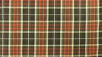 Ткань Шотландка  коричнево-оранжевая