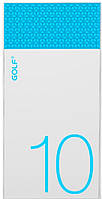 Портативная батарея GOLF Power Bank 10000 mAh Hive10 3.1A Li-pol White+blue
