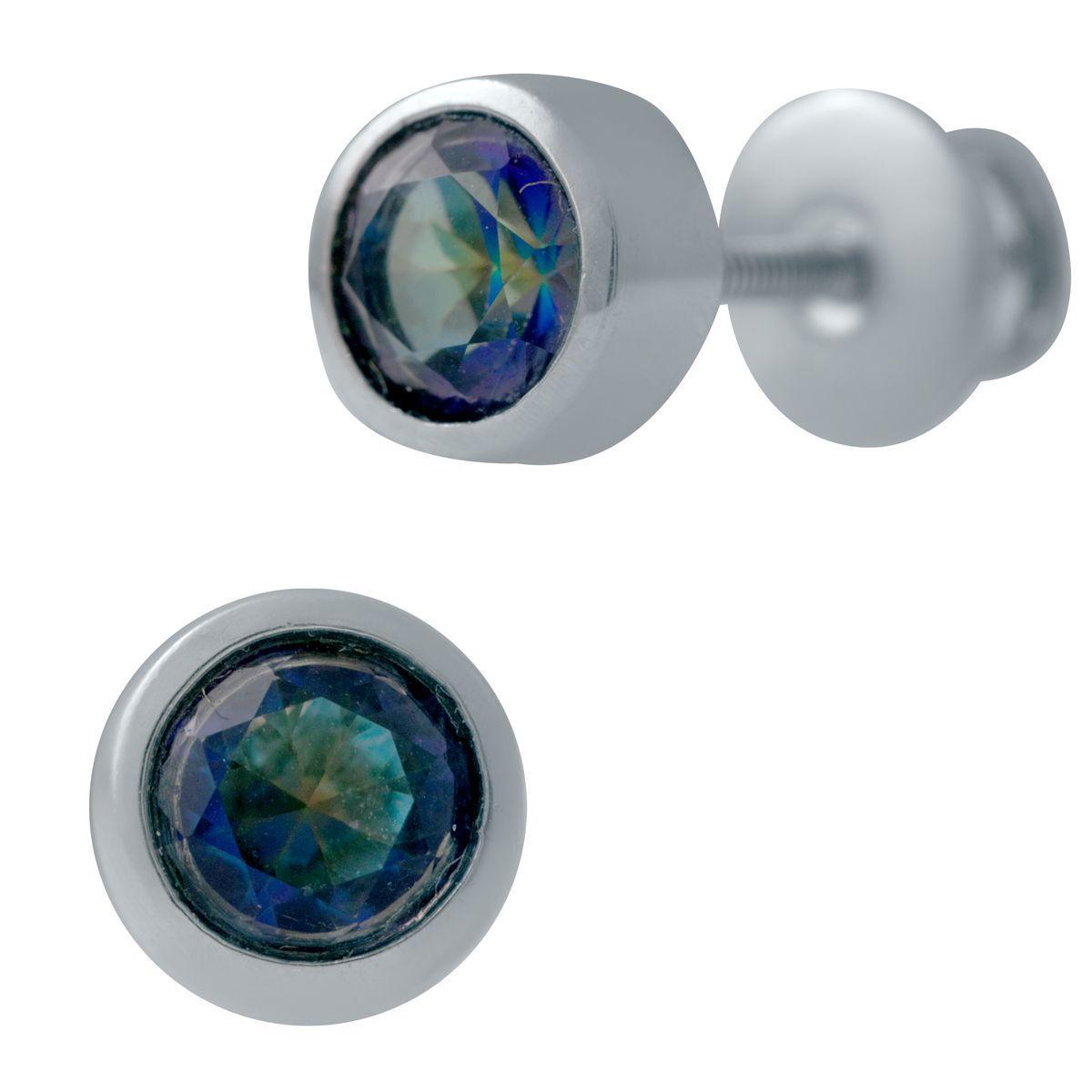 Серебряные серьги SilverAlex с натуральным мистик топазом (2027409)