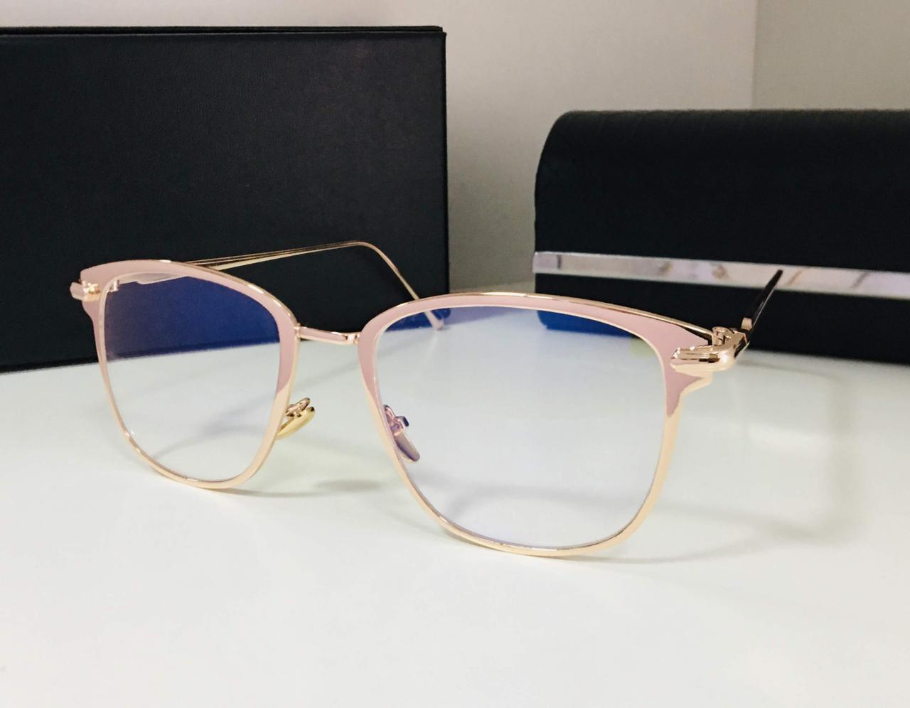 Компьютерные очки женские metall золотистые