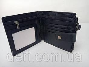 Кошелек мужской функциональный Vintage черный, фото 2