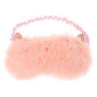 Маска для сна пушистая розовая «Любимая котейка» фирмы Claire's ( оригинал)