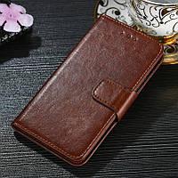 Чехол Idewei для Meizu M8 / M813H книжка кожа PU коричневый