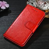 Чехол Idewei для Meizu M8 / M813H книжка кожа PU красный