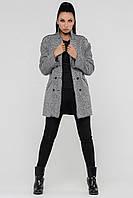 Пальто женское осень (светло-серый)