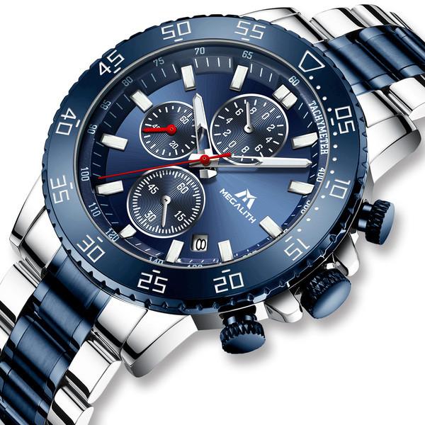 Мужские наручные часы кэжуал MegaLith