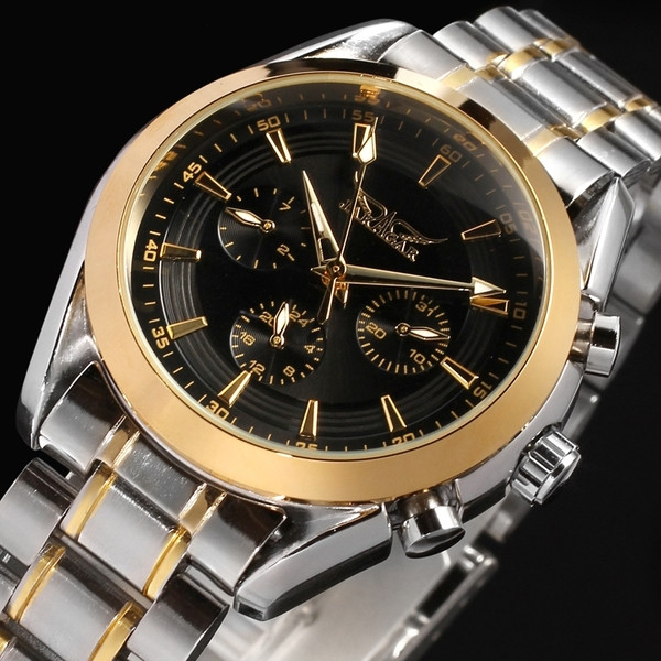 Практичные серебристые часы для мужчин Jaragar