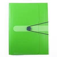 Папка А4 на  резинке, непрозрачная, пластиковая, зеленая