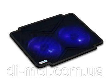 Охлаждающая подставка для ноутбука CoolCold K17-1, (черный, черный/синий)