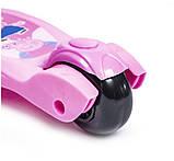 Самокат детский складная ручка Smart mini. Свинка Пеппа. Колеса светятся при катании!, фото 5