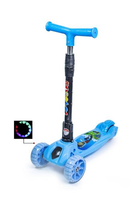 Самокат трехколесный детский складная ручка Smart mini колеса светятся при катании