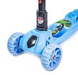 Самокат детский складная ручка Smart mini. Щенячий патруль. Колеса светятся при катании!, фото 2